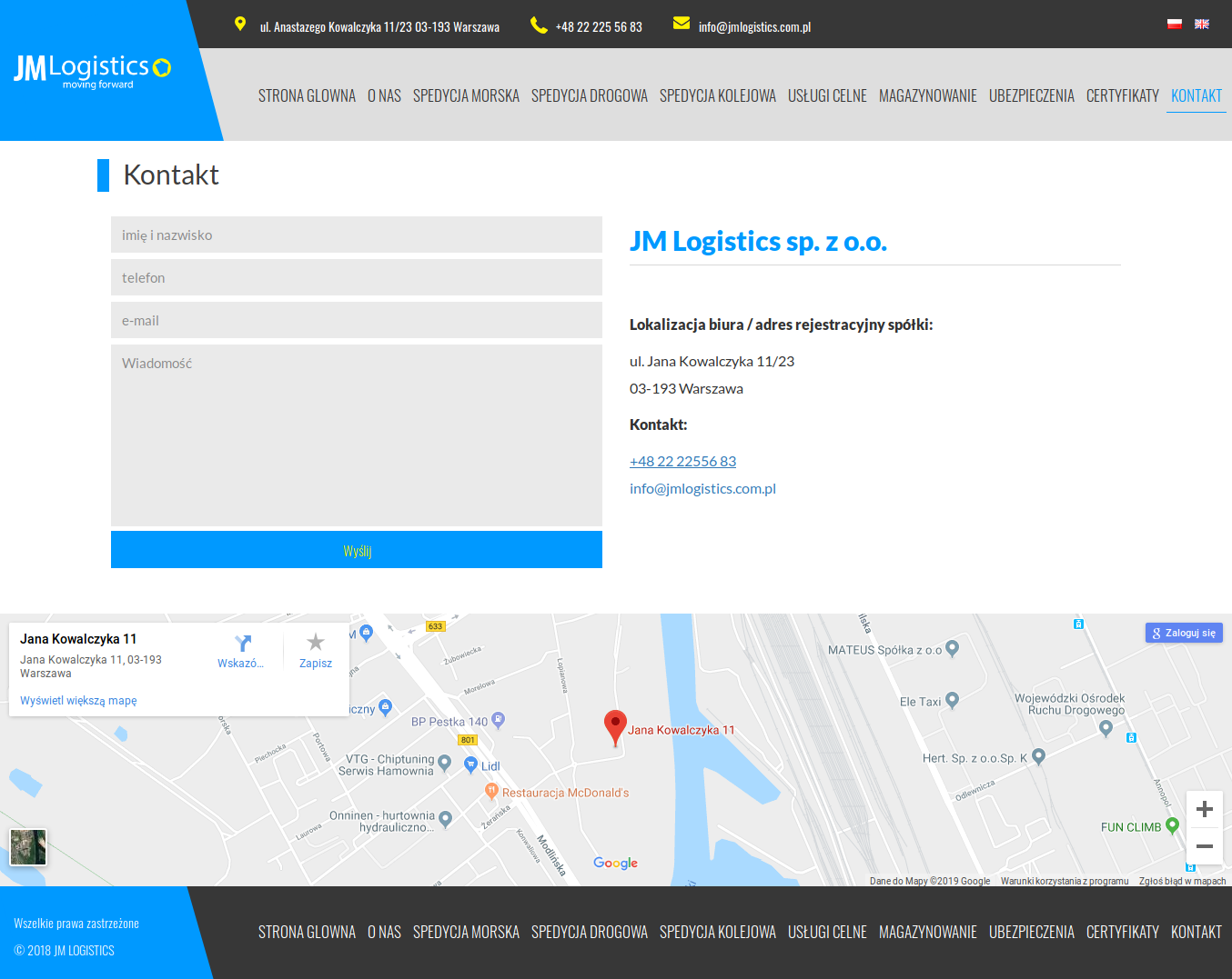 JMLogistics.pl-kontakt